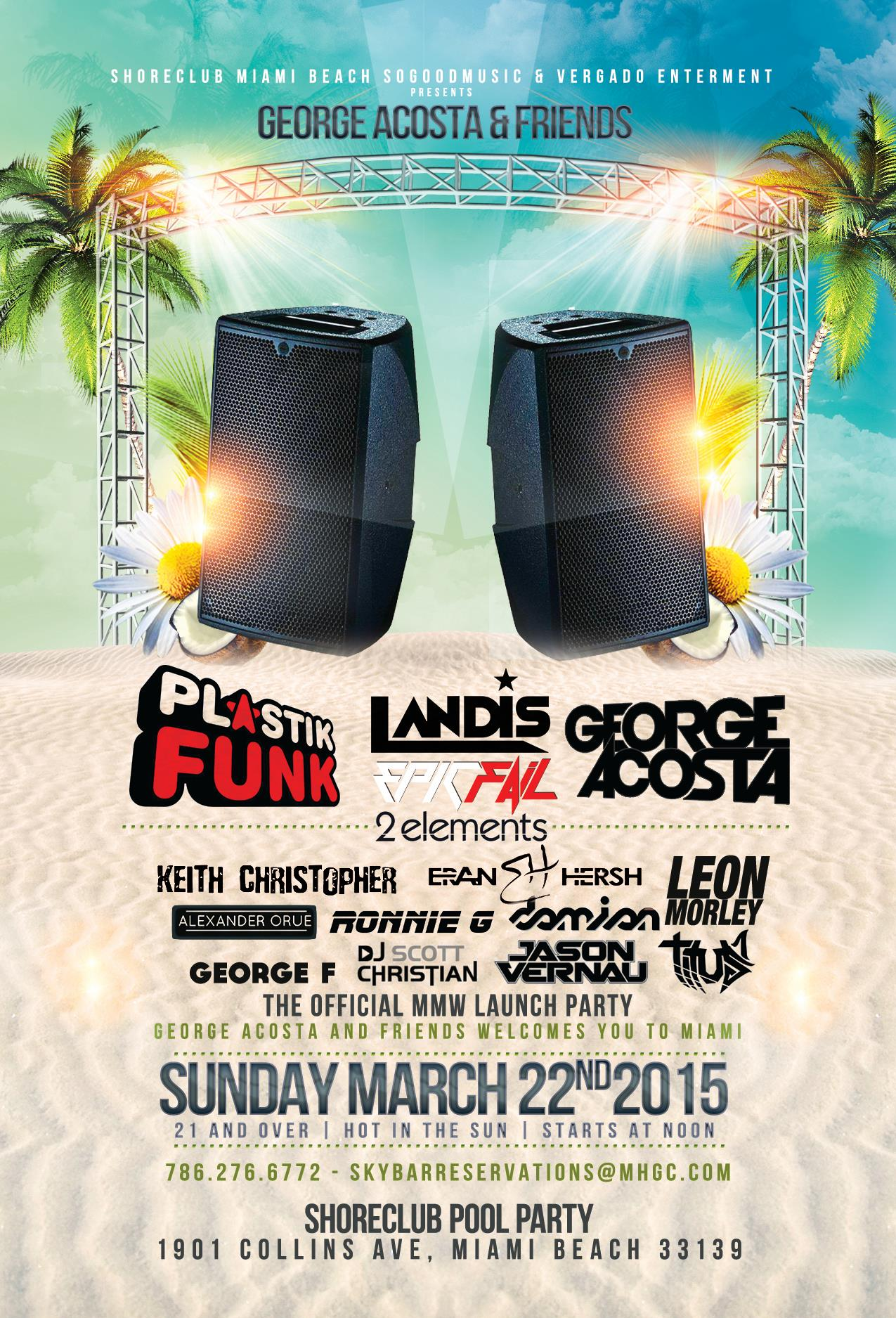 George Acosta & Friends WMC Pool Party