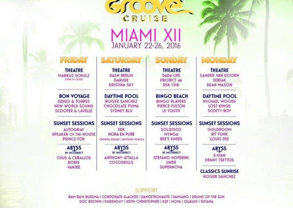 #MANPRETTY on The Groove Cruise Miami GCXII Official Lineup!!