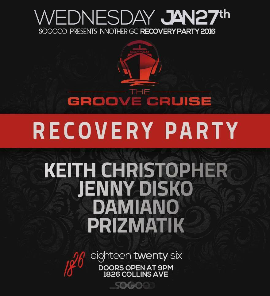 The Groove Cruise Miami Xii Recovery Party – Miami Beach, FL