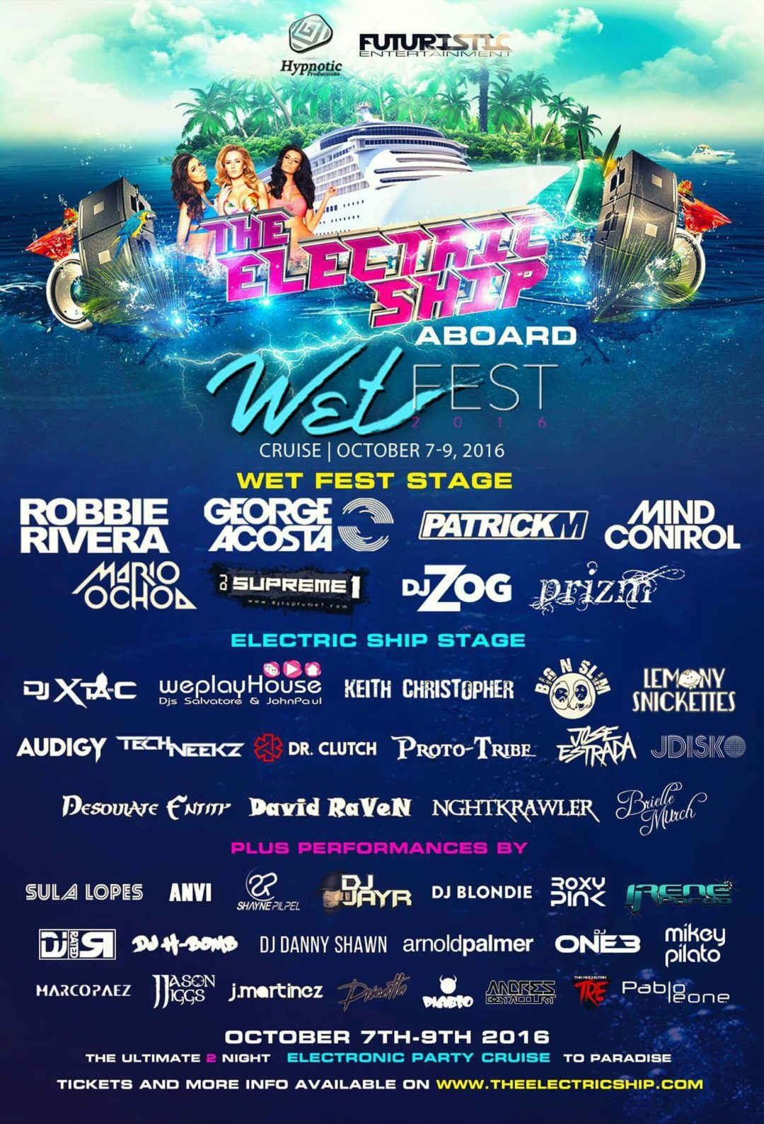 The Electric Ship aboard Wet Fest – Grand Bahamas, The Bahamas