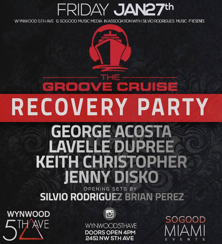 The Groove Cruise #GCMIAMI Recovery Party