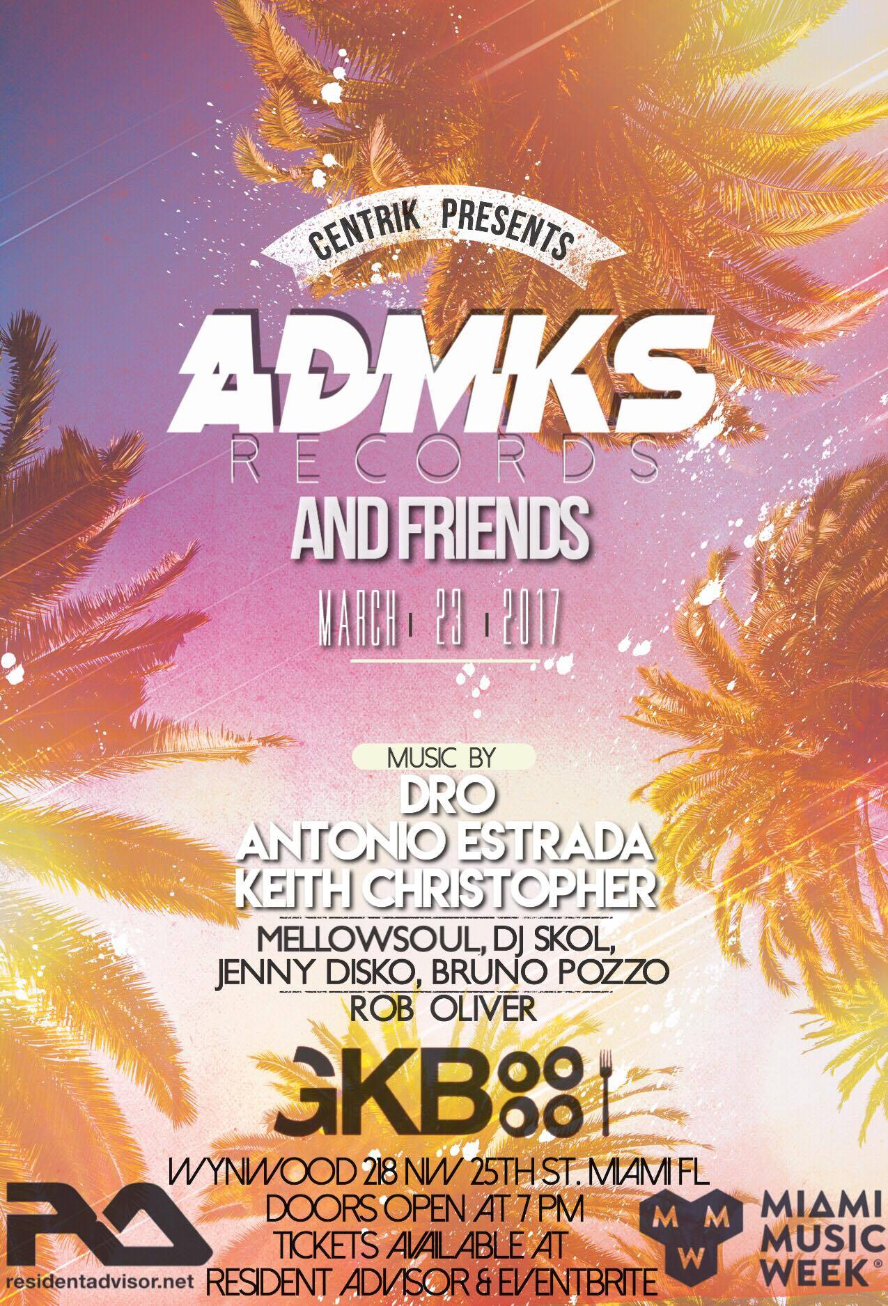 ADMKS Records and Friends Label Miami Music Week Party