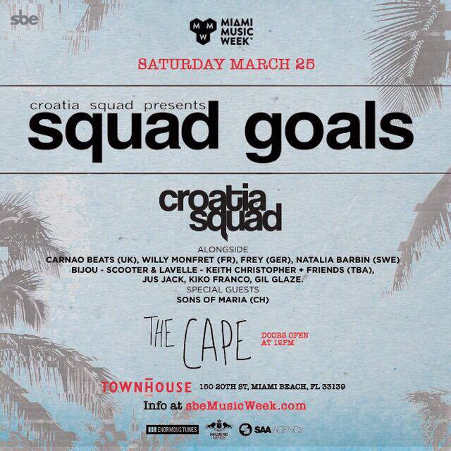 Croatia Squad presents Squad Goals at The Cape Miami
