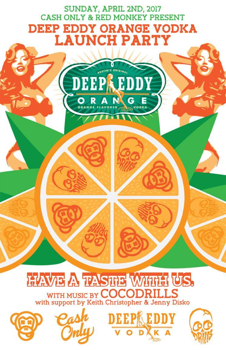Deep Eddy Orange Vodka Launch Party with Cocodrills