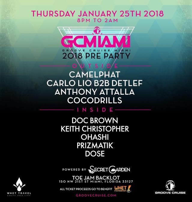 Groove Cruise Miami 2018 Official Pre Party